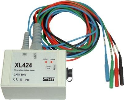 HTItalia XL424 feszültségmérő adatgyűjtő háromfázisú rendszerekhez