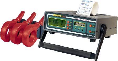 Elcontrol Microvip3+  3DB 1000A lakatfogó+printer Teljesítmény és hálózati analizátor