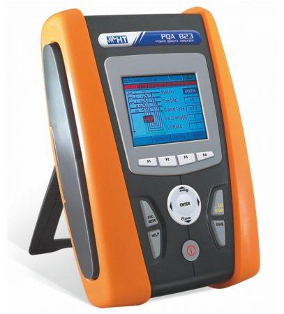 HTItalia PQA823 1-és3-fázisú teljesítmény és hálózati analizátor