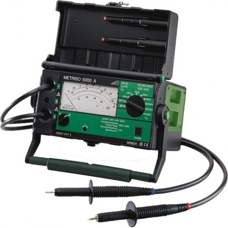 Metrawatt Metriso 5000A 5000V-os analóg szigetelésvizsgáló