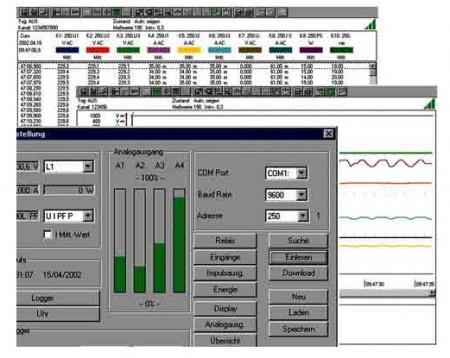 Metrawatt METRAwin 10 szoftwer A2000-hez adapterrel
